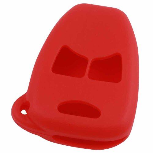 KeyGuardz Red Rubber Keyless Entry Remote Key Fob Skin Cover Protector