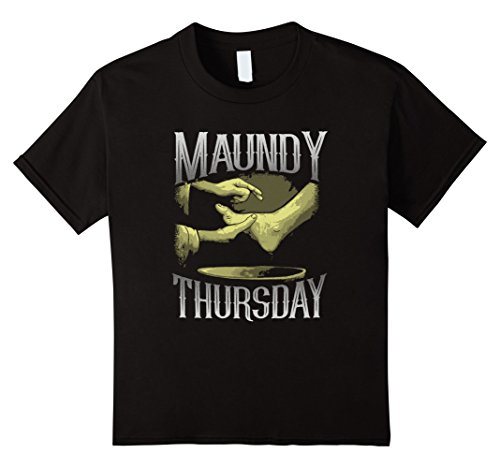 Kids Holy Week Tees: Maundy Thursday Foot Washing T-Shirt 6 Black