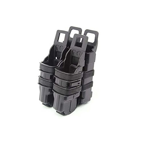 EFOSE® NEW DOUBLE FAST PISTOL MAG MAGAZINE POUCH HOLDER ATTACH MOLLE SYSTEM BK