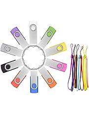 Chiavetta USB - Pendrive 4GB 10 pezzi - FEBNISCTE Multicolorato Girevole Unità Flash USB2.0