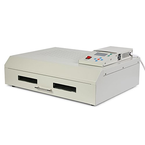 Picture of ChefStore Reflow Oven Infrared IC Heater 2500W SMD SMT BGA Soldering Machine Digital Control (400 x 600mm T962C Reflow Oven)
