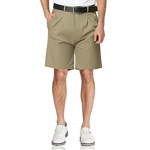 eam Classic Straight Fit Pleated-Front Chino Short (Classic Pleated Chino Khaki)