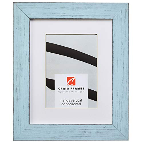 Craig Frames Jasper, 16 x 20 Inch Country Sky Blue Picture Frame Matted to Display a 11 x 14 Inch Photo