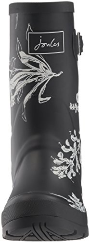 Joules Women's Mollywelly Rain Boot, Black Black Botanical