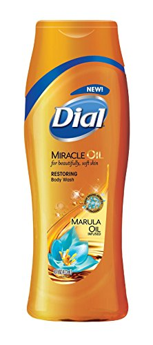 Dial Restoring Body Wash – Miracle Oil – With Marula Oil – Net Wt. 16 FL OZ 473 mL Per Bottle – Pack of 3