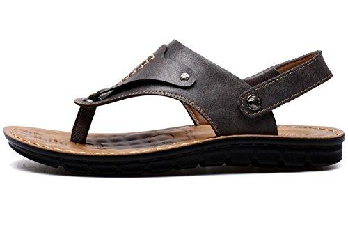 Comfort Vocni Men Sandals Open Sandals Leather Black Shoes Mens Toe Casual Toe Open aX6qwa