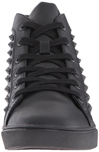 Steve Madden Womens Levels Fashion Sneaker Black W Studs sm6gr