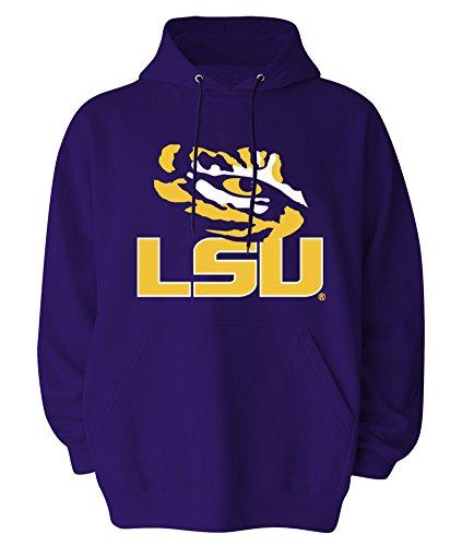 - Elite Fan Shop LSU Tigers Hooded Sweatshirt Arch Purple Icon - 2XL