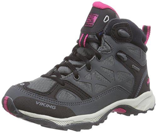 Viking ASCENT JR. GTX - botas de senderismo de material sintético Niños^Niñas gris - Grau (Charcoal/Purple 7716)