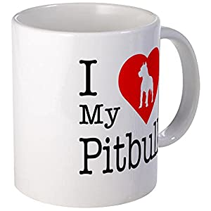 CafePress I Love My Pitbull Terrier Mug Unique Coffee Mug, Coffee Cup 6