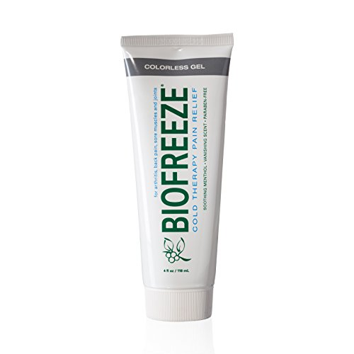 Biofreeze Pump (Biofreeze Pain Relief Gel, 4 oz. Tube, Cooling Topical Analgesic for Arthritis, Fast Acting and Long Lasting Pain Reliever Cream for Muscle Pain, Joint Pain, Back Pain, Colorless Formula, 4% Menthol)