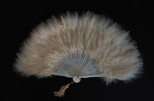 Bone 12x12 (Marabou Feather Fan 12