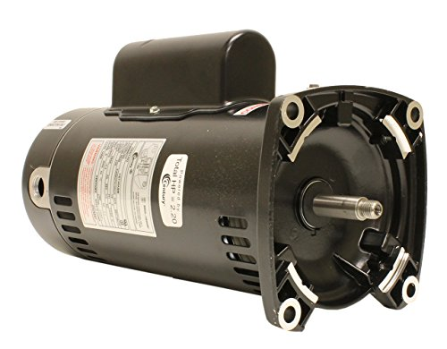 Century USQ1202 2 HP, 3450 RPM, 48Y Frame, Capacitor Start/Capacitor Run, ODP Enclosure, Square Flange Pool Motor (Flange Motor Square)