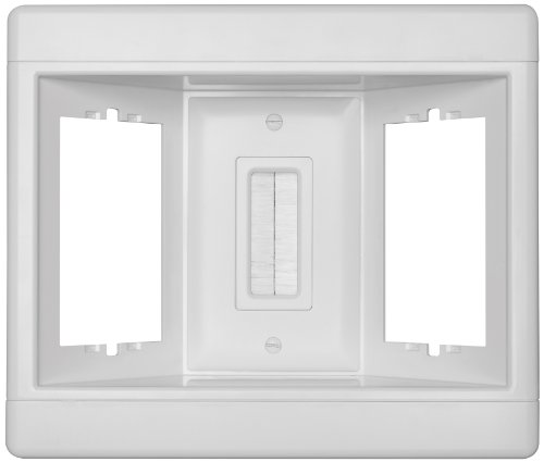 Legrand - Pass & Seymour TV3LVKITWCC2 Recessed Television Box Three Gang Low Voltage Kit Easy Installation Behind Wall