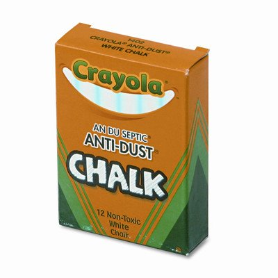 Nontoxic Anti-Dust Chalk (12 Sticks/Box) [Set of 6] by Crayola LLC