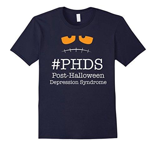 Mens Post Halloween Depression Syndrome Tshirt Large Navy