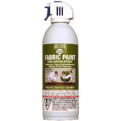 Simply Spray Upholstery Fabric Spray Paint 8 Oz. Can Sage Green
