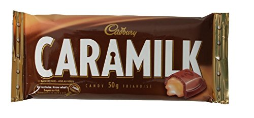 Lot of 6 Caramilk Bars 50 Grams Each From Canada by Cadbury