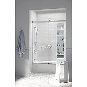 KOHLER K-706015-L-SH Levity Bypass Shower Door with Towel