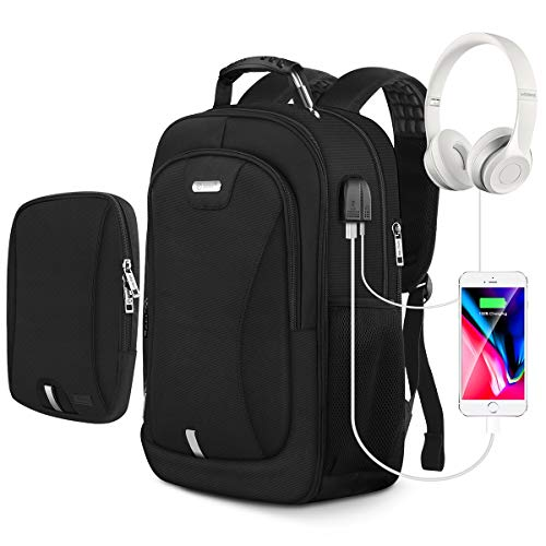 Laptop Backpack,Travel Backpack for Men and Women with USB Charging Port and Audio Jack,Modular Backpack with Removable Sling Bag, Waterproof Large Business School Bookbag for 15.6 Inch Laptop/Noteook