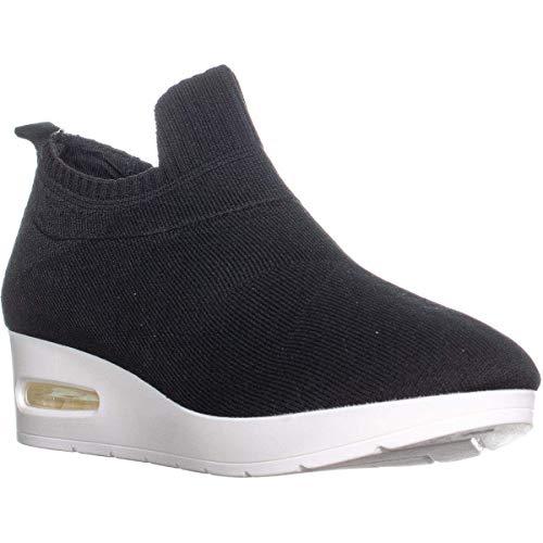 DKNY Angie Slip-On Wedge Sneakers, Black, 7.5 US / 38 EU