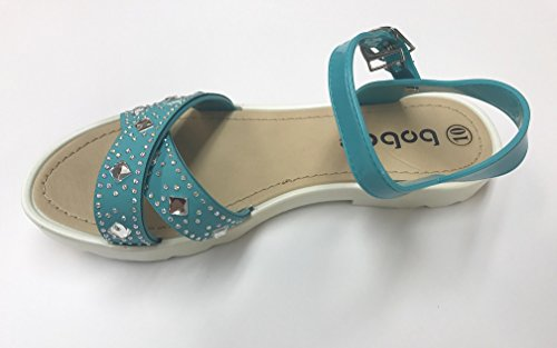 Bobee Turquoise Sandals Strap Womens Ankle Bobee Womens Studded Studded Ankle Gem Gem qwSEPPT