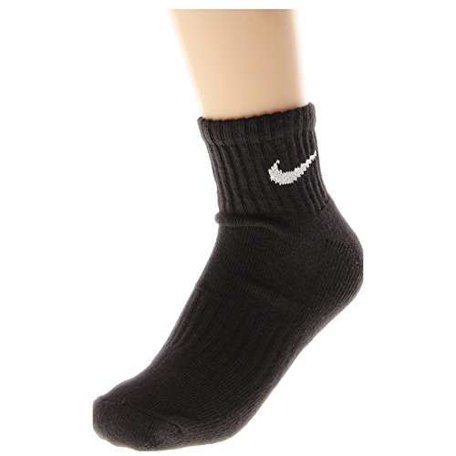 Nike Men's Bag Cotton Quarter Cut Socks  , Black)