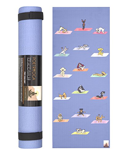 "POETRYOGA Kids Yoga Mat with Carry Strap 60""x24"" 4mm Eco Friendly SGS Approved Non Toxic No Phthalates or Latex Non Slip Multi Purpose"