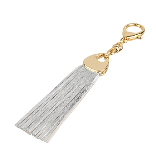 Richbud Leather Water Drop Tassel Keychain Handbag charm Keyring Fob (Drop Handbag)