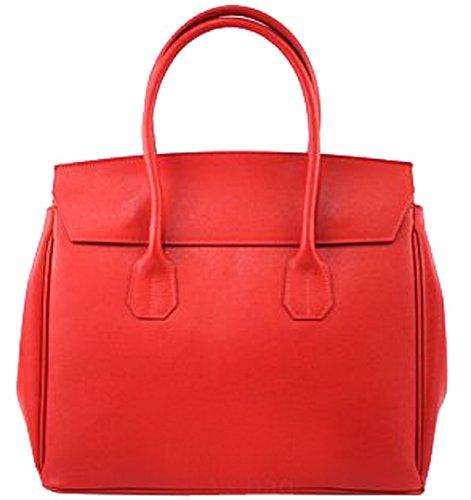 G&G PELLETTERIA - Bolso de asas de Piel para mujer rojo