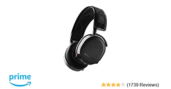 SteelSeries Arctis 7 (2019 Edition) Lossless Wireless Gaming Headset with  DTS Headphone:X v2 0 Surround for PC and PlayStation 4 - Black