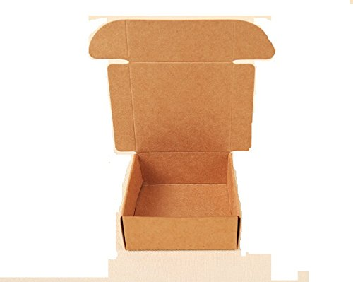 Lavenz 50pcs Small Black white Kraft paper gift cardboard packaging paper box Craft carton package for packing handmade soap/candy box [Size: 95x95x30mm]