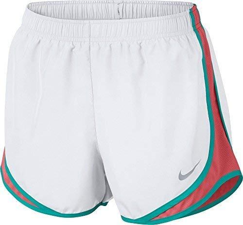 (NIKE Women's Dry Tempo Running Short (White/Sunblush/V/Ltfusred, Medium))