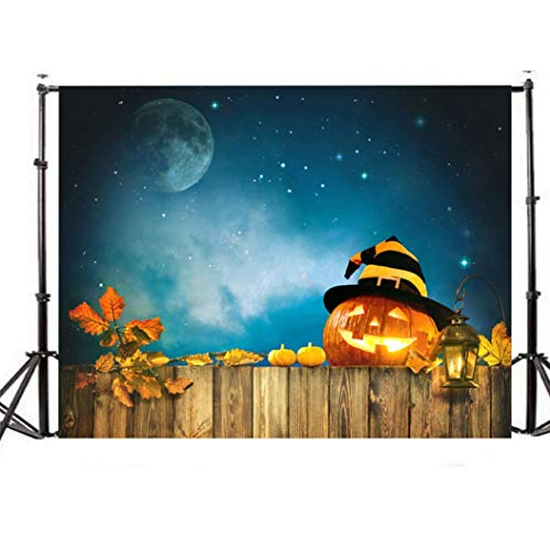 Home & Garden,Dartphew 1Pcs [ Lovely pumpkin lanterns and beautiful sky-Halloween Backdrops ] Background Photography Studio - Lightweight Clear Realistic Suitable for Digital Cameras(Size:150x90cm) (Sky Lantern Sized)