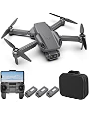 GPS Foldable Drone with 4K Camera for Adults,RC Quadcopter with 5GHz FPV Transmission,Auto Return Home,Follow Me,Includes Carrying Bag