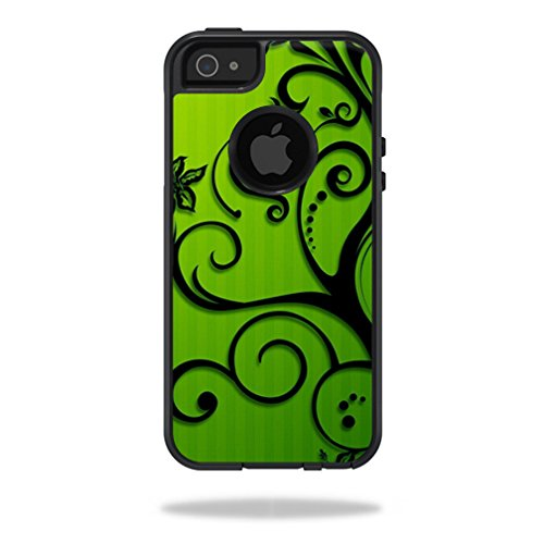 Mightyskins Protective Vinyl Skin Decal Cover for OtterBox Commuter iPhone 5/5s/SE Case Cell Phone wrap sticker skins Floral Flourish