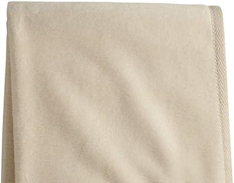 Sferra Chalet Queen Full Blanket 100/% Brushed Cotton Super Plush Ivory Beige NEW