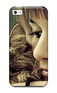 For Iphone Case, High Quality Cat And Girl Women Pretty People Women For Iphone 5c Cover Cases