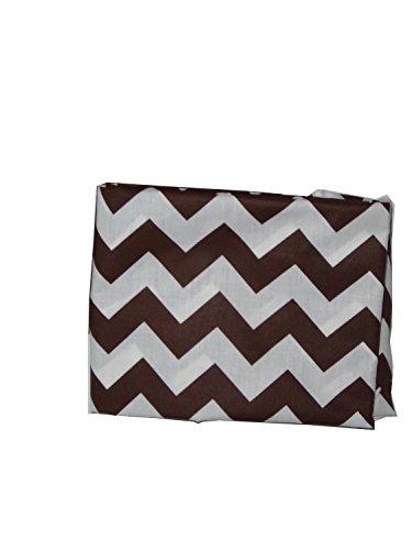 Babydoll Bedding Chevron Cradle Sheet, Brown, 18'' x 36'' by BabyDoll Bedding