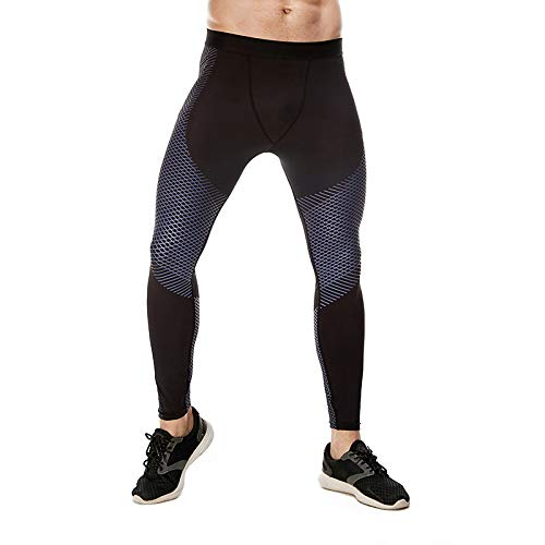 Men's Compression Leggings Pants, Willarde Comfortable Breathable Quick Dry Sports Tights Sportswear Base Layer Trousers for Running Jogging Skiing Yoga Cycling Sailing Training Gym Basketball Workout AWJSCK2015