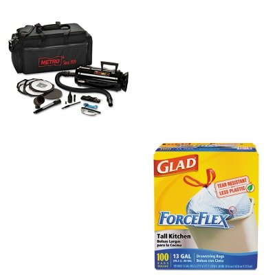 Data Vac Pro Cleaning Kit (KITCOX70427MEVDV3ESD1 - Value Kit - Datavac ESD-Safe Pro 3 Professional Cleaning System (MEVDV3ESD1) and Glad ForceFlex Tall-Kitchen Drawstring Bags (COX70427))