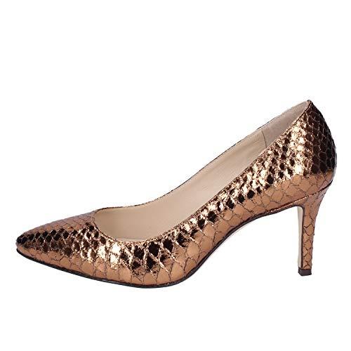 Mujer 18 Zapatos Bronce Cuero De Salón Kt 4zHqwx1zI