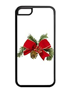 Iphone 5C Case,Christmas Tree Bowknot Iphone 5C TPU Silicone Cases,Phone Case Apple Iphone 5C Soft Skin Case