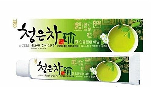 2080 ChungunTea Herbal Tea Toothpaste Dental Clinic by Korean Oral Care 4.58 Oz/130 grms x - Toothpaste Tea Green