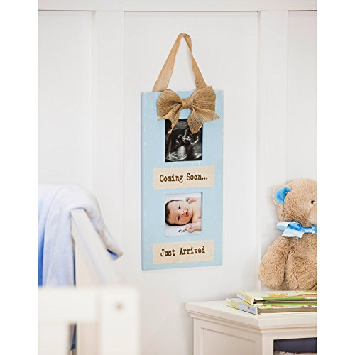 b. Boutique Z9BF103 Everyday Wooden Sonogram Photo Frame, Blue by b. Boutique