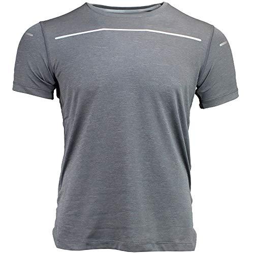 Image of ASICS Men's Lite-Show Short Sleeve Top, Dark Grey Heather, XX-Large