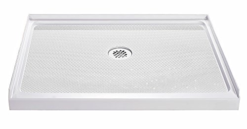 - DreamLine SlimLine 36 in. D x 36 in. W x 2 3/4 in. H Center Drain Single Threshold Shower Base in White