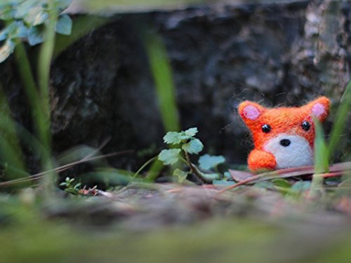 Needle Felted Fox, Fox Miniature, Fox Plush