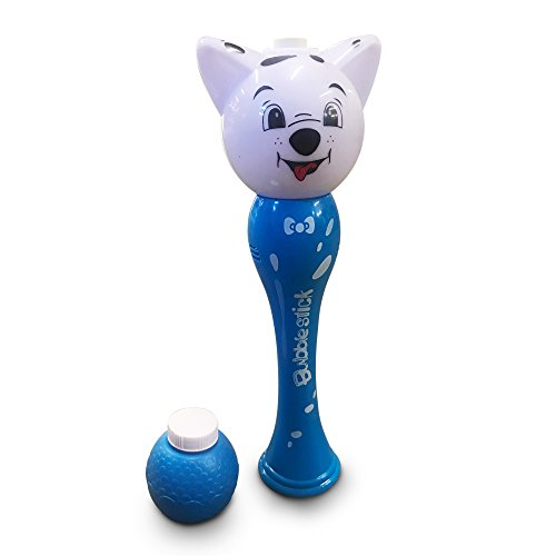 The Puppy Dog Foam Bubble Wand – Light Up Bubble Stick– A Classic Gift for Children Made for Hours of Fun – Comes with Special Bubble Bottle (Blue) by LilPals