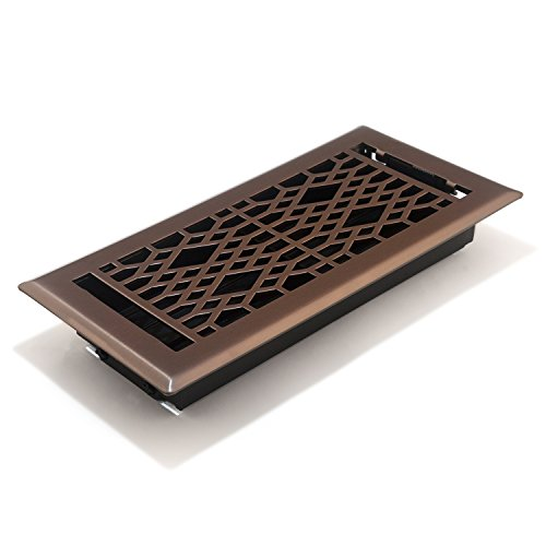 - Accord AMFRLRBCA410 Cathedral Floor Register, 4-Inch x 10-Inch(Duct Opening Measurements), Light Oil-Rubbed Bronze